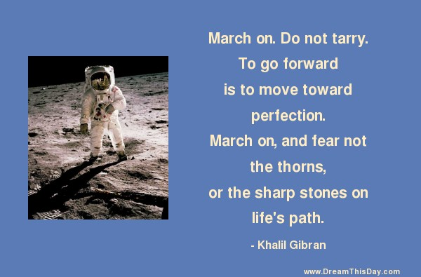 daily inspiration daily quotes march on